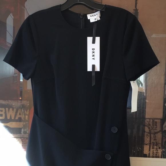 Dkny Dresses & Skirts - DKNY Black short sleeve dress sz 2